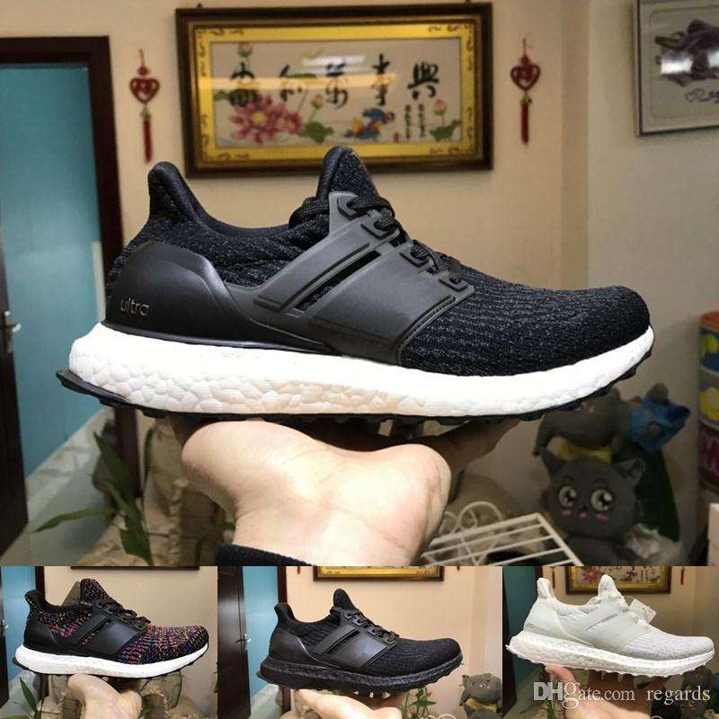7985c377ae5 Ultra Boost 4.0 3.0 Running Shoes Core Triple Black White CNY ...