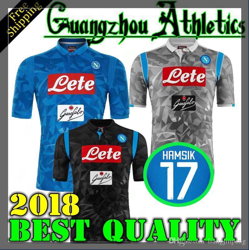 2019 18 19 Napoli Soccer Jersey Home Blue 2018 2019 Naples ZIELINSKI HAMSIK  INSIGNE MERTENS CALLEJON PLAYER ROG Football Shirts Top Quality From ... 3923e7248