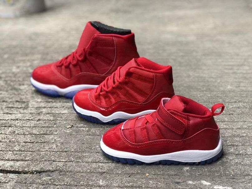 Acheter Gym Et Rouge 11s Mère Et Gym Fille Chaussures De Basket Ball Mode f7c456
