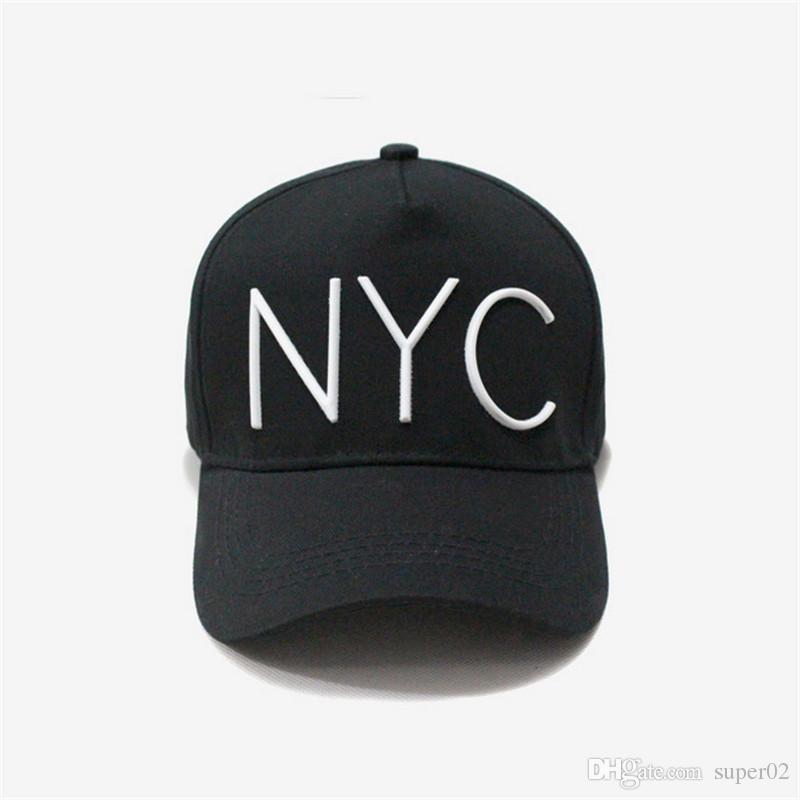 Berretto da baseball in cotone di marca NYC maschio Cappellino snapback  maschile per uomo Donna Cappello papà Cappello estivo Cappello femminile  Visiera ... bcf22e92ebc1