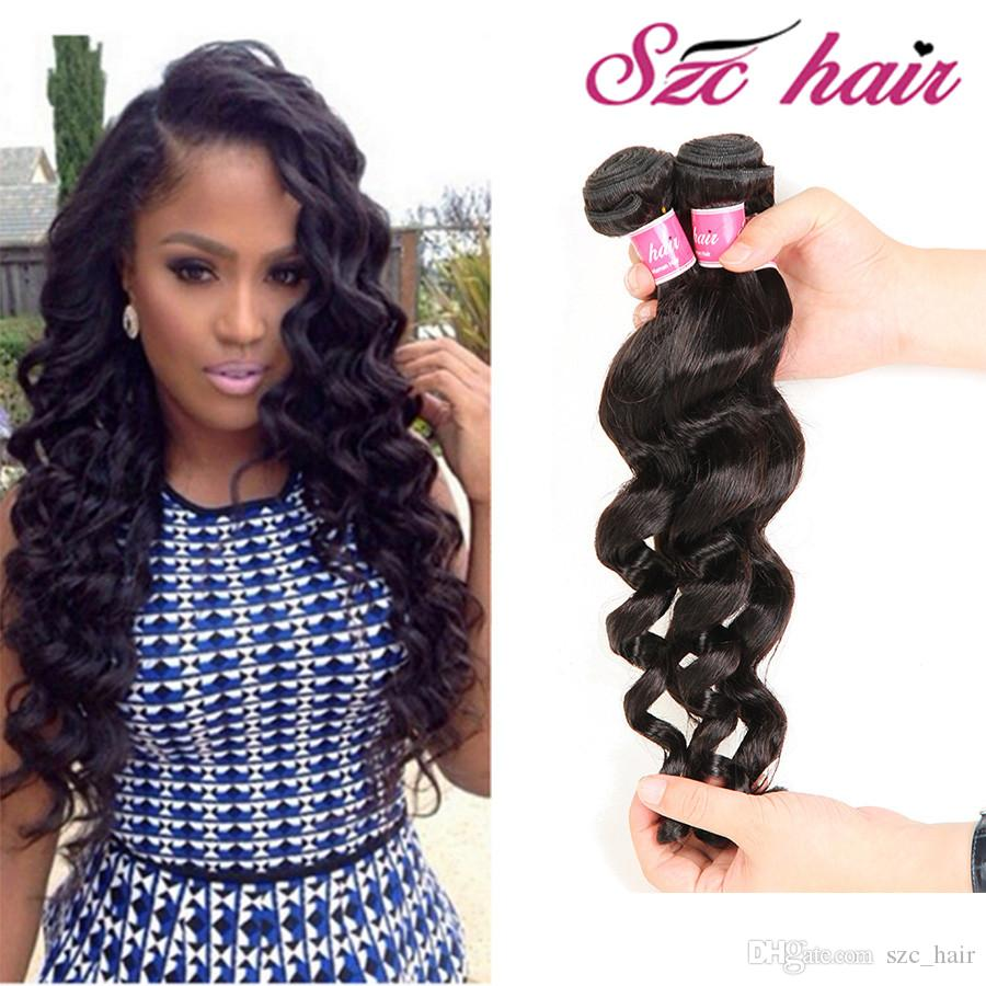 Virgin Human Hair Extensions Loose Wave 8inch To 30inch Bundles