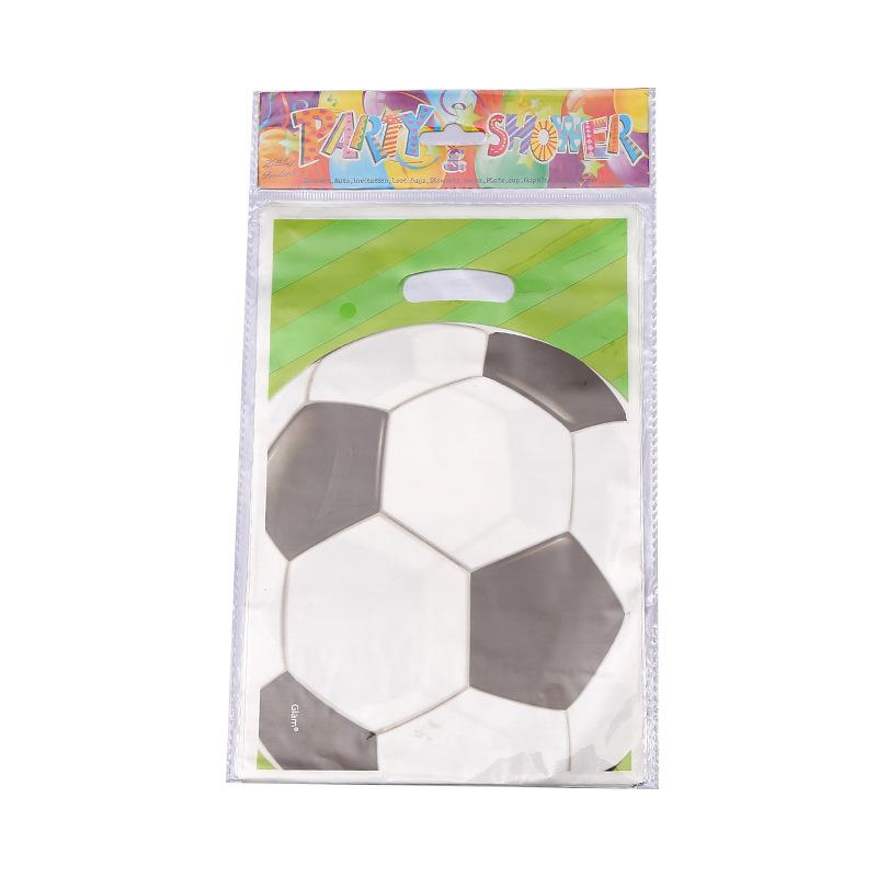 Boys Football Theme Plastic Return Gift Loot Bag Birthday Party Supplies Child Kids Decoration Candy Bags Cartoon Pattern Wrap Paper Design From