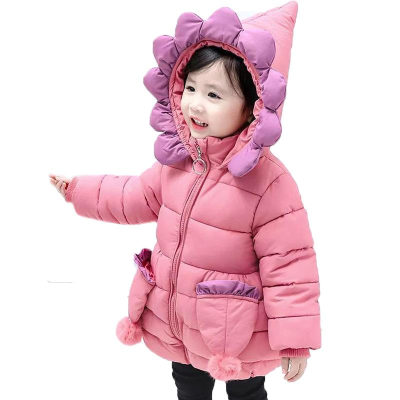 autumn shoes high quality guarantee sports shoes Children Down Coat Girls Winter Thick Cotton Jacket 2018 New Flowers Hooded  Down Padding Coat Kids Christmas Outwears Coats