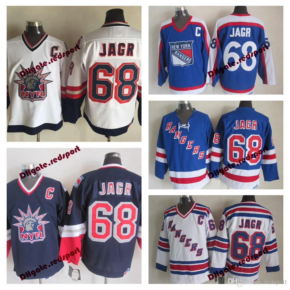 15e79836f 2019 Jaromir Jagr New York Rangers Hockey Jerseys CCM Vintage NYR 68  Jaromir Jagr Stitched Jerseys Cheap C Patch From Redsport
