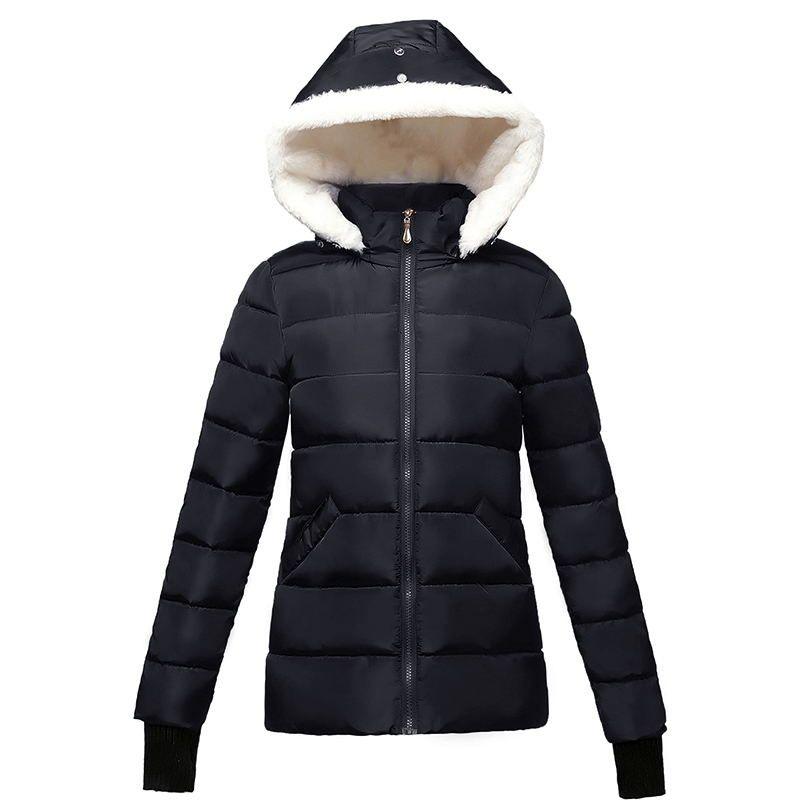 2017 Women Warm Autumn Winter Thicken Fleece Coat Zip Up Hooded Slim Parka Overcoat Hoody Woman Korean Clothes Chaqueta Mujer Online Discount Hoodies & Sweatshirts