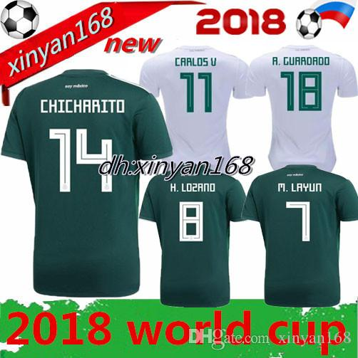 World Cup New 2018 2019 MEXICO Home CHICHARITO SOCCER JERSEYS 18 19 Away  CHUCKY LOZANO DOS SANTOS HERRERA LAYUN Football Shirt Mexico Jerseys Online  with ... 85b7214ae