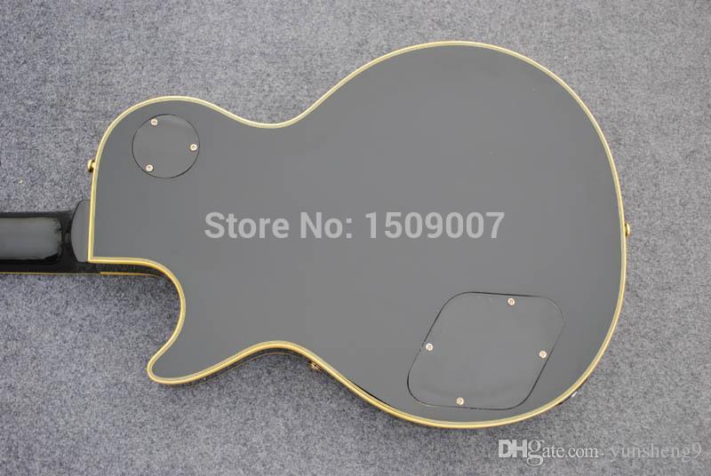 Yellow binding Black Beauty, 3 pickups, Golden Hardware, Custom Chinese electric guitar