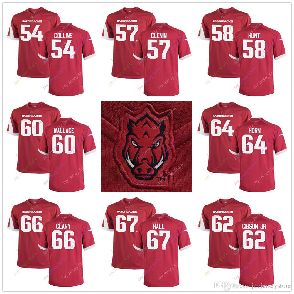 best sneakers b601c 3b92e Arkansas Razorbacks Jersey Terrell Collins Shane Clenin Griffin Hunt Brian  Wallace Johnny Gibson Jr. Audry Horn Ty Clary Tyler Hall