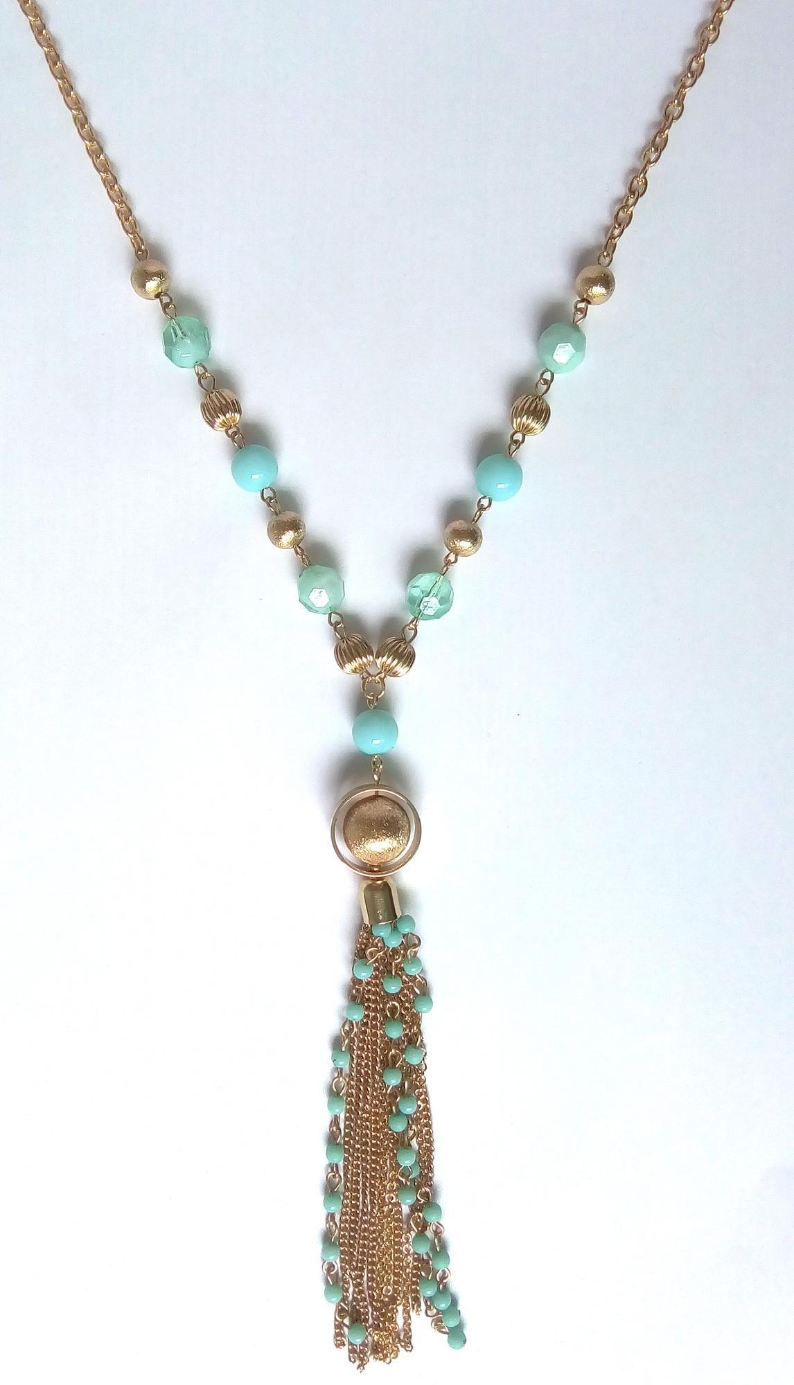 مجوهرات جديدة اليدوية الوردية الخرز شرابة قلادة القلائد الطويلة للنساء Birhtday هدايا سلسلة شرابة مطرز قلادة الكرة الرملية