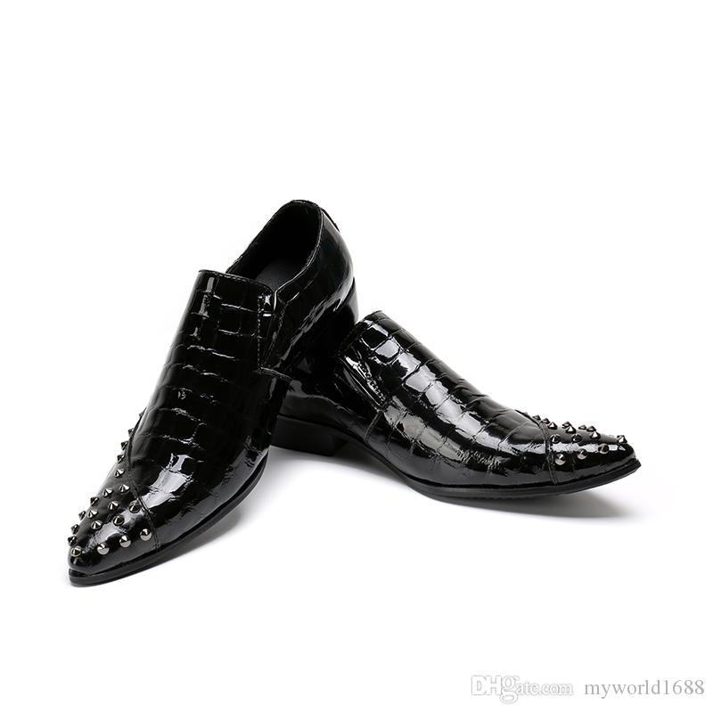 Acheter De En Marque Noir Cuir Véritable Richelieus Mariage Italie vFwvq7nr