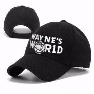 Black Wayne S World Hat Costume Waynes World Baseball Caps Unisex ... f1a56b41294