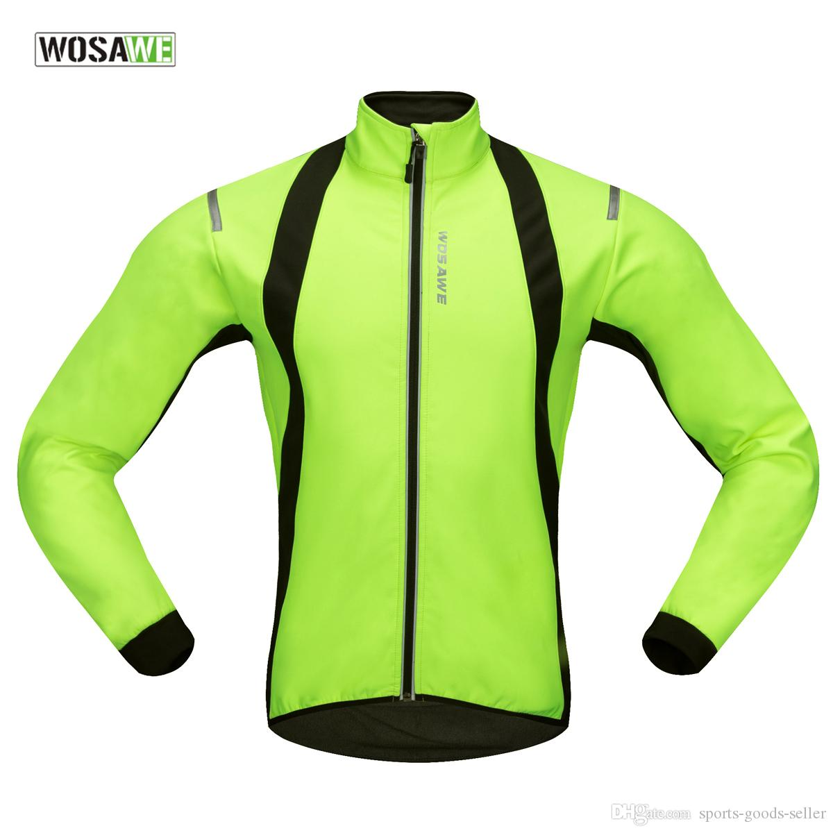 WOSAWE Blast Soft Shell Thermal Fleece Long-sleeves Cycling Jersey ... 65710f042