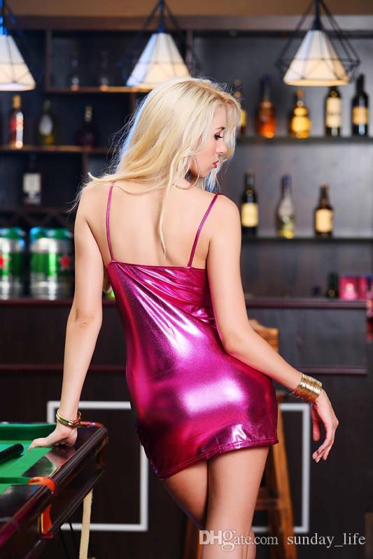 Spedizione gratuita !!! Plus Size Donne Sexy Lingerie Cuoio Slip Mini Erotic Dress Party Night Club Collant Porno Erotico Lingerie Sex Costume