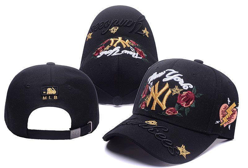 70b94b6f531 Women Men Cap NY Letter Sun Visor Embroidery Red Rose Flower Baseball Cap  Dad Hat For Men Adjustable Snapback Caps Female Flat Bill Hats Baseball Hat  From ...