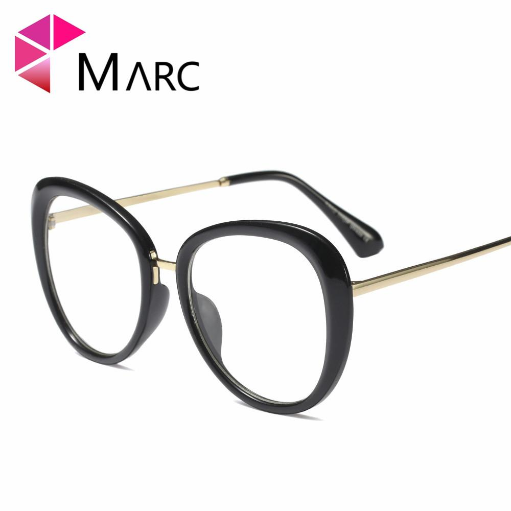 08d46c1124 2019 MARC WOMEN 2018NEW Optical Black Glasses Plain Glass Spectacles  Fashion Red Glasses Frame Clear Round Oval 97542 From Buete