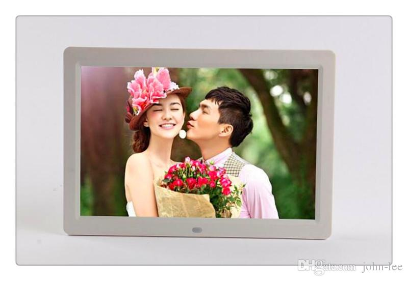 DHL Desktop Digital Photo 12 inchTFT LCD Wide Screen Desktop Digital Photo Frame glass Photo Frame