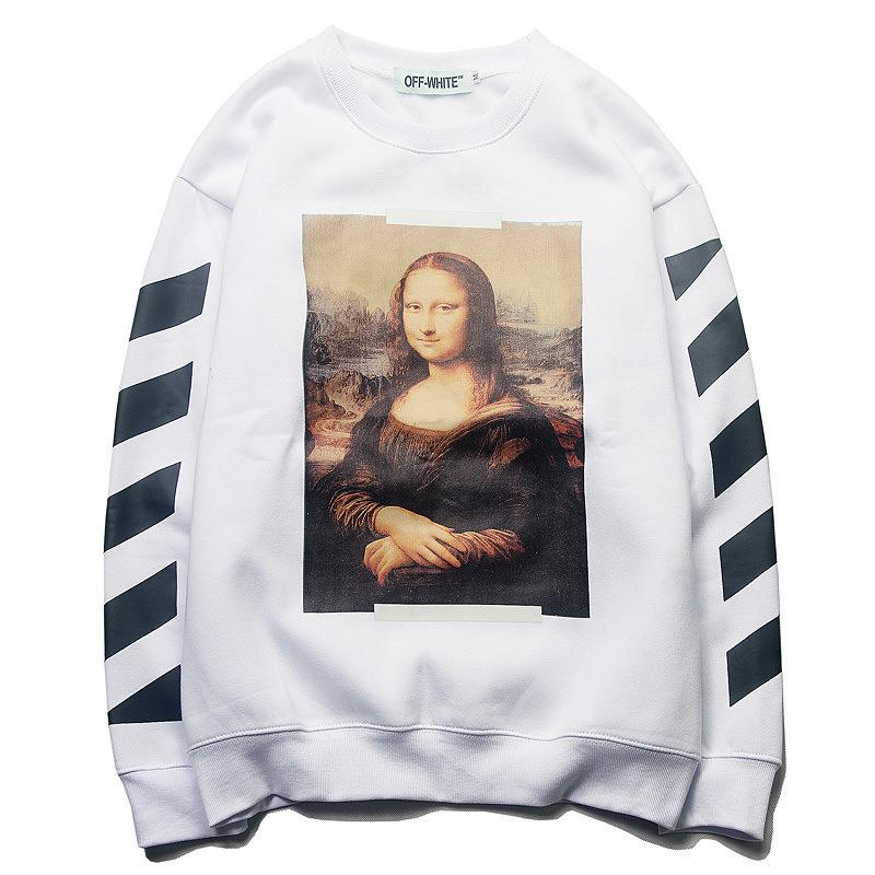 01f4d7bbd805 2019 Hoodies Sweatshirts Autumn And Winter New Pattern Tide Card High Clear  Digital Printing T Shirts Plus Cashmere Sleeve Head Bottoming Sweater From  ...