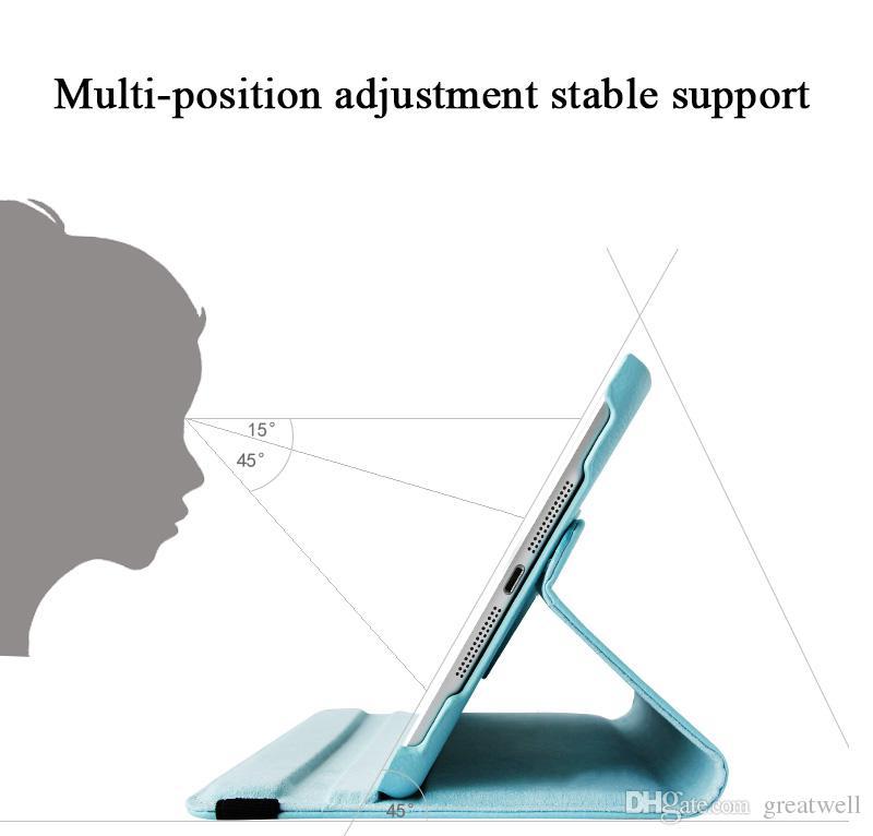 360 rotierende Flip-PU-Leder-Stand-Fall für iPad 10.2 PRO 11 10.5 9.7 Mini 6 2345