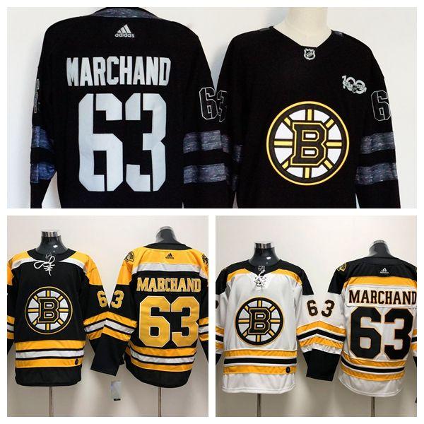 96074b17c0f5 2019 New Mens 63 Brad Marchand Boston Bruins Hockey Jerseys Stitched ...