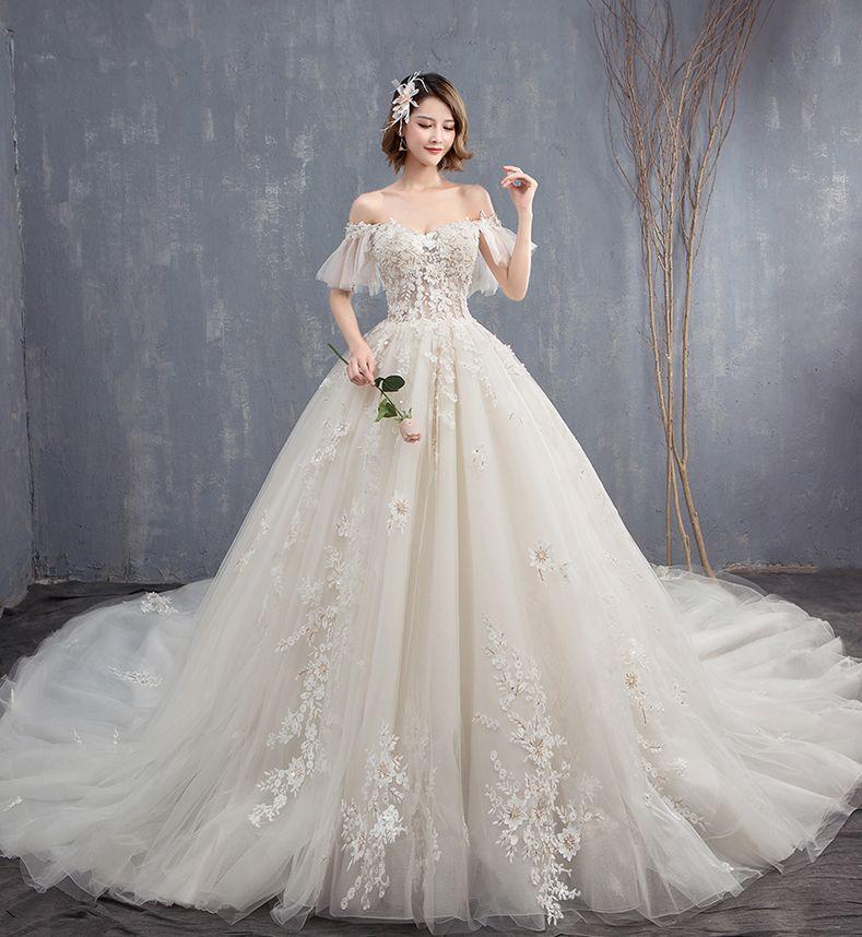 compre venta al por mayor de lujo vestidos de novia 2018 con flores