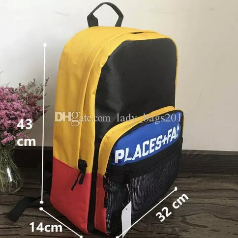 PLACES+FACES Life Backpack Classic Men And Women Sports Outdoor Packs Black Travelling Bag Laptop Bag Sports Backpack Satchel
