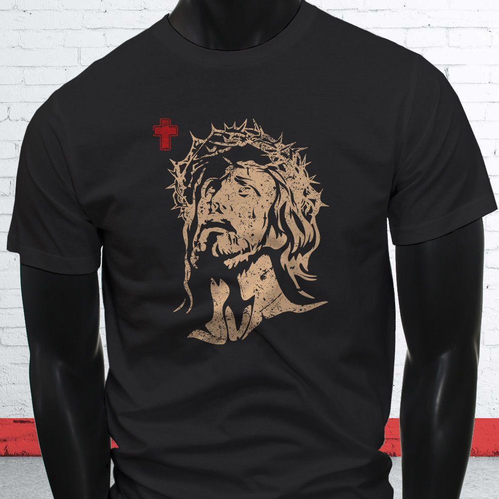 Religion Para Hombre Negra Camiseta Iglesia Cristiana Jesucristo Cruz MGVpqUSz