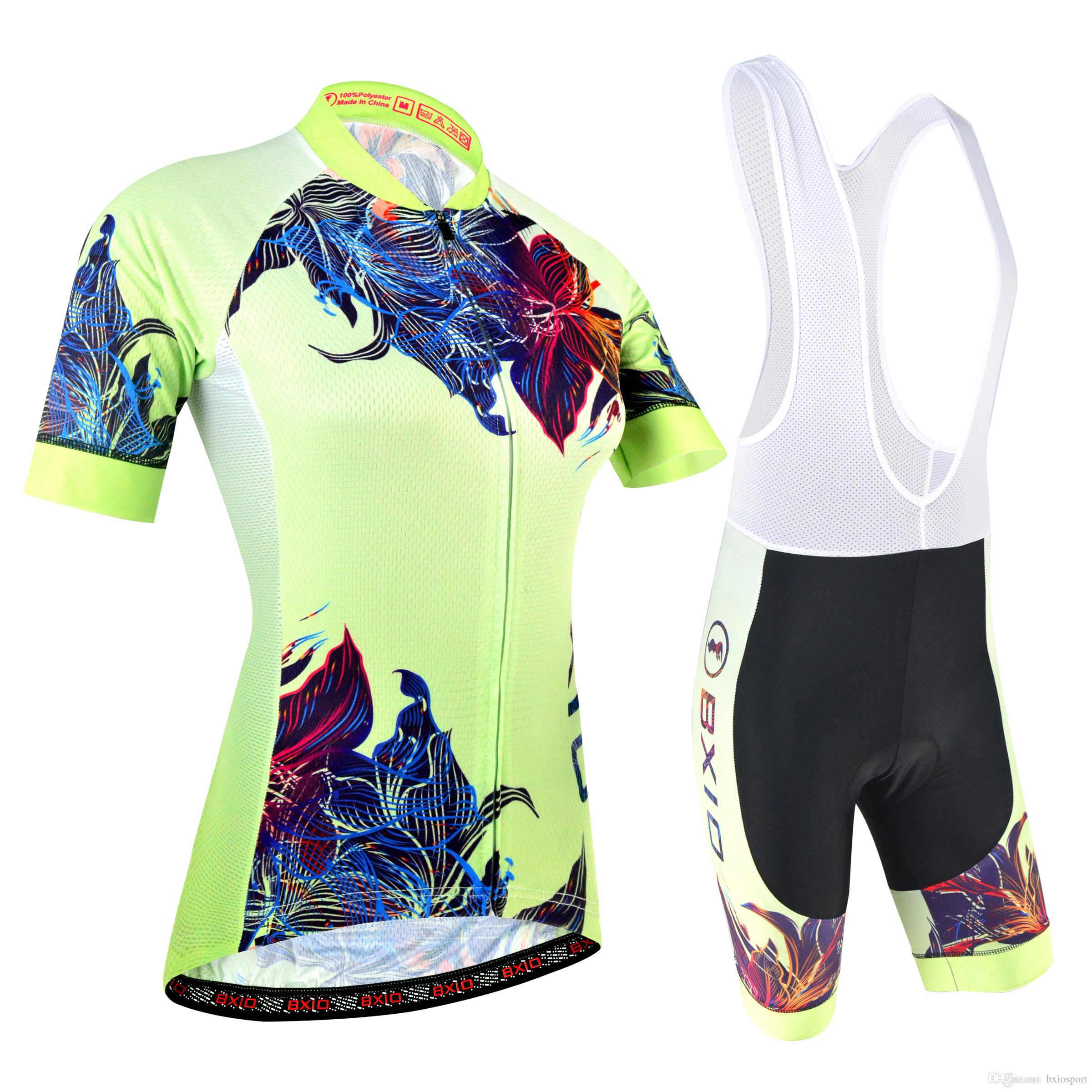2018 BXIO Brand The Newest Cycling Jersey Women 3 Rear Pockets Bike  Clothing Beautiful Female Bicycle Clothing Ropa Ciclismo Mujeres BX 180  Bicycle Jersey ... 1fa62efa7