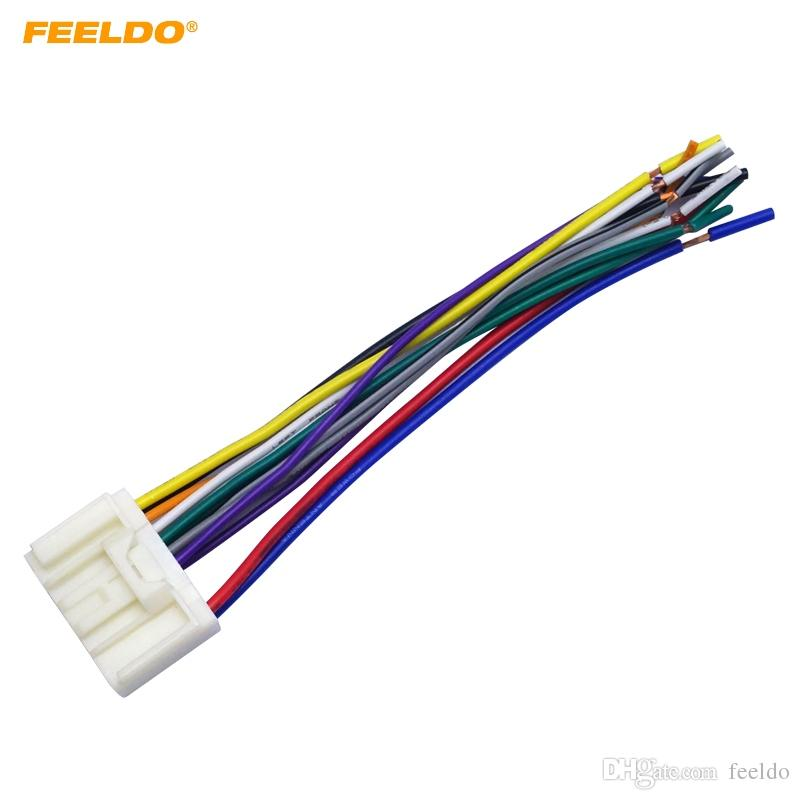 feeldo car radio audio cd power wire harness 2018 feeldo car radio audio cd power wire harness adapter for
