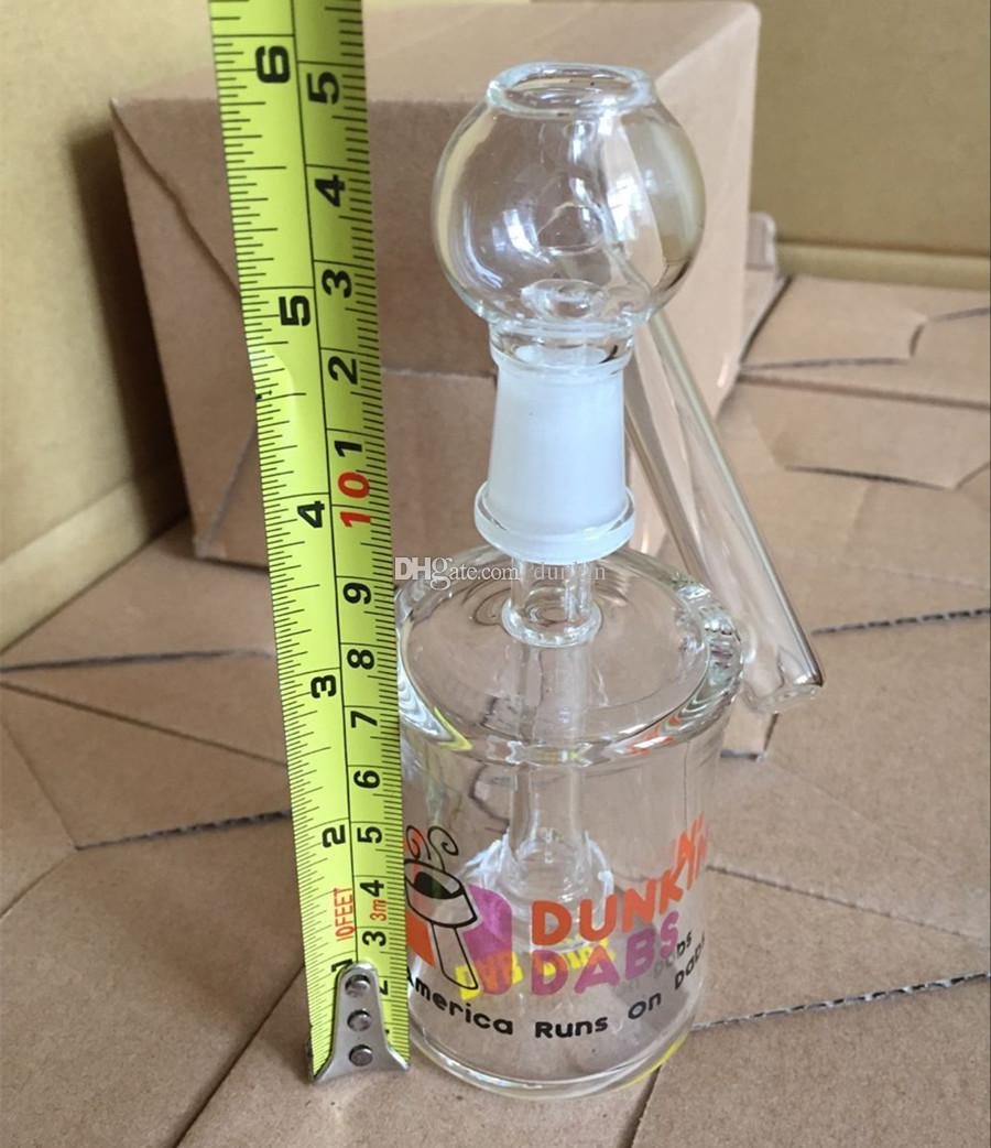 Dunkin Dabs American Runs Dabs Мини трубки для курительной трубки со стеклянным бонгом 14 мм Труба для воды Bongs Recycler Фильтр Стеклянный барботер с гвоздем для чаши