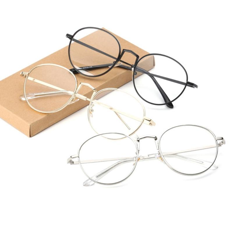 1391a2be2b7 2019 Women Oval Metal Eye Glasses Frames Plain Mirror Clear Lens Harajuku  Big Artistic Frame Glasses Oculos Feminino Masculino From Marquesechriss