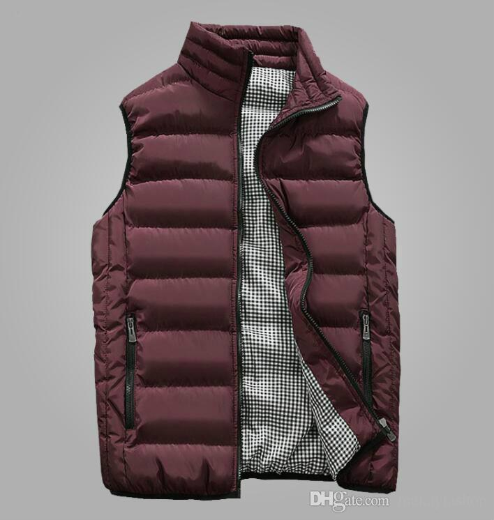 5d89a5b0cf5 Autumn Vest Men Fashion Stand Collar Men s Sleeveless Jackets Casual ...