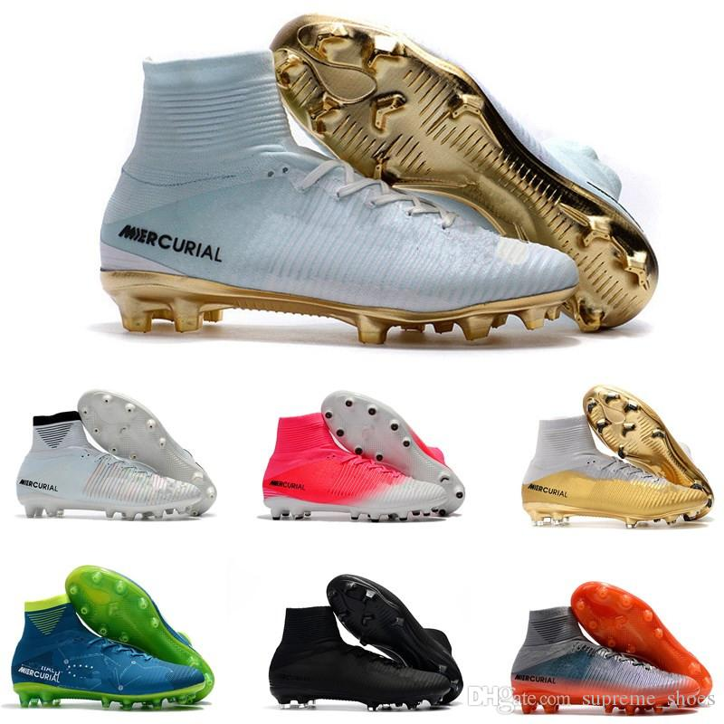 1ae3ab6d432 2019 Men Women Kids CR7 Mercurial X EA SPORTS Superfly V FG Soccer Shoes  Magista Obra 2 Boys Soccer Cleats Football Cristiano Ronaldo From  Supreme shoes