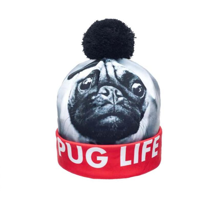 87659ed273a FCCEXIO 2017 New Autumn And Winter Women 3D Printed Galxy PUG And ...