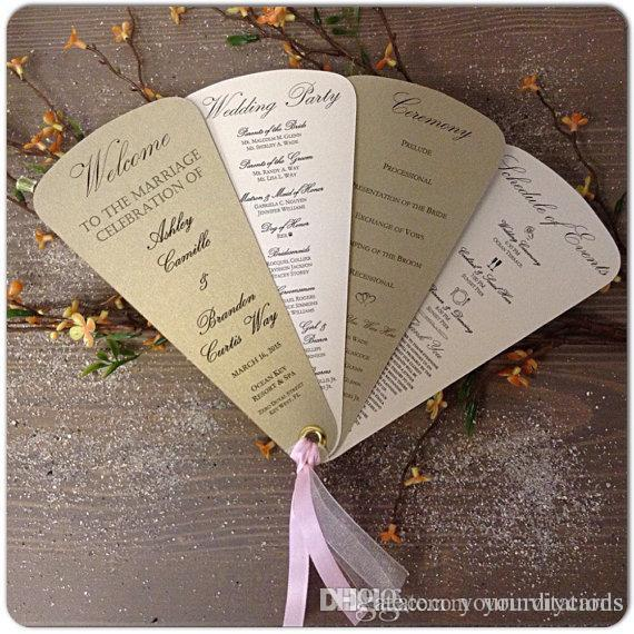 factory direct salevintage wedding programs fan style wedding