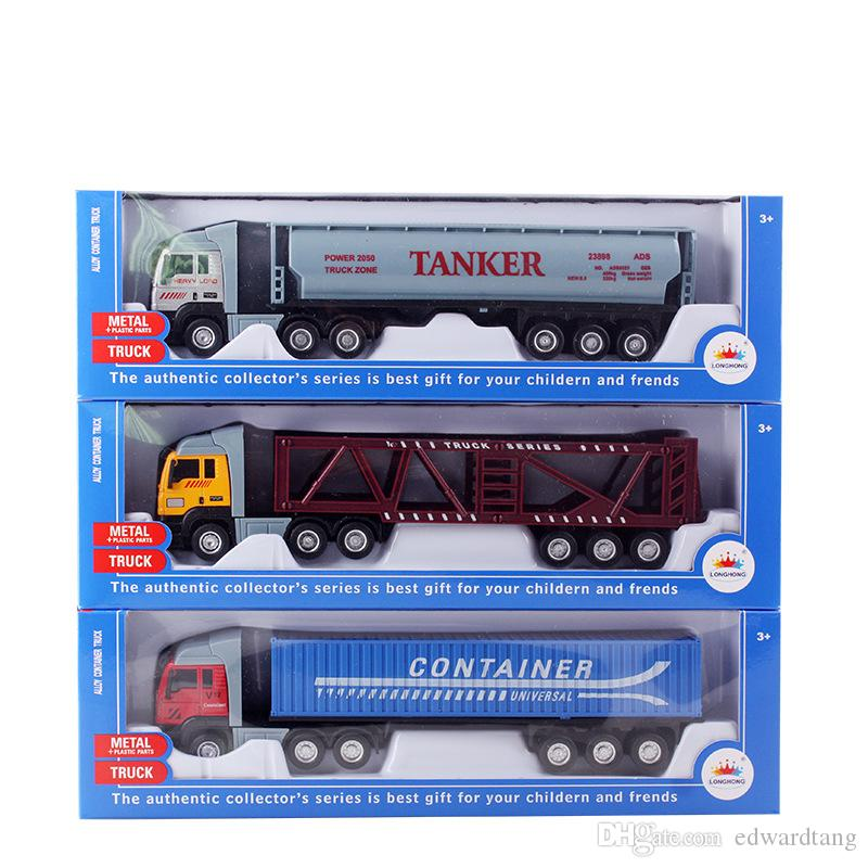Fancy Diecast Car Model Toy, Freight Truck, Tank Car, Goods Van, High Simulation, for Kid Birthday Gift, Party, Collectiing, Home Decoration