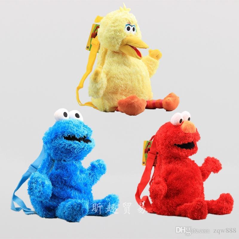 Nuovo arrivo 100% cotone / Sesame Street 45cm zaini peluche giocattolo bambini migliori regali