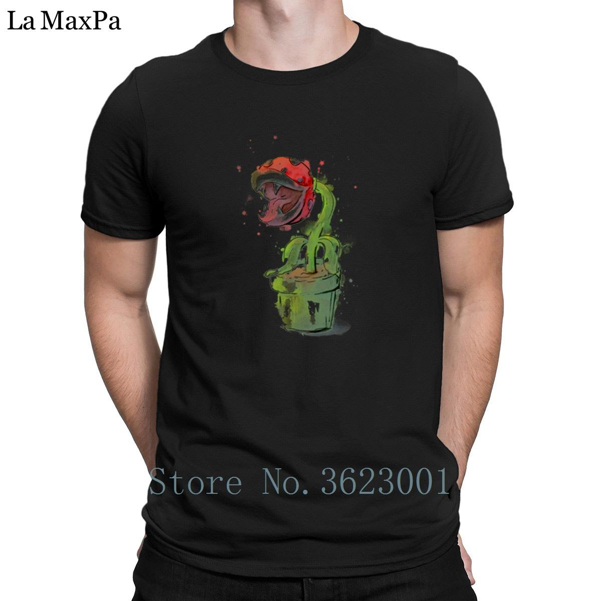 f30254667fdd4f Designing Family Tee Shirt Man Piranha Plant Watercolor Men Tee Shirt Slim  Fit Basic T Shirt Man O Neck T Shirt Cheap Clothes Design And Buy T Shirts  Tee ...