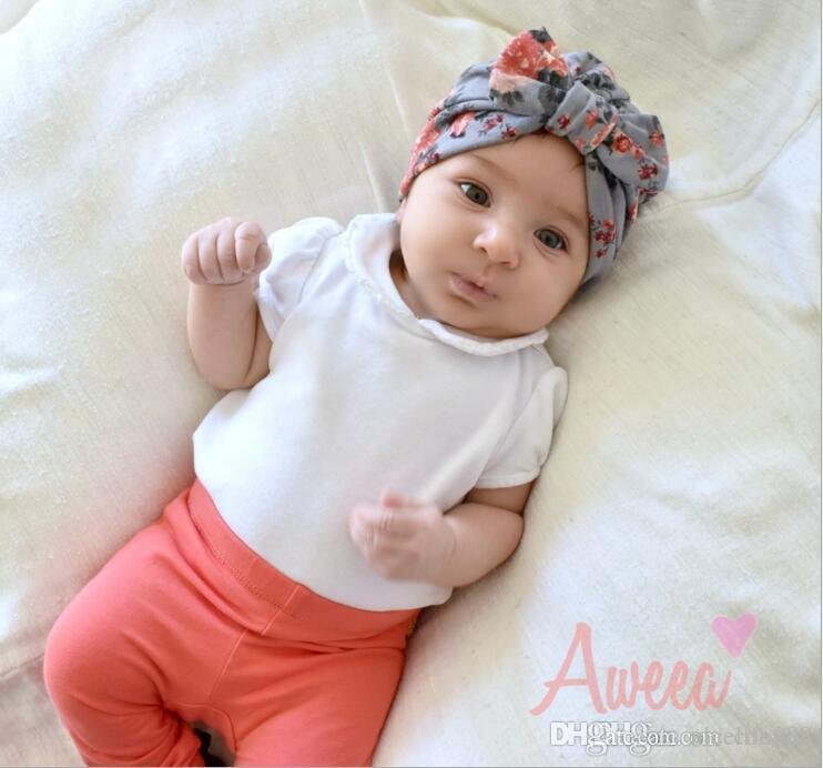 New INS Baby Hats Caps Bunny Ear Europe Style Turban Knot Head Wraps ... 9079cf195727
