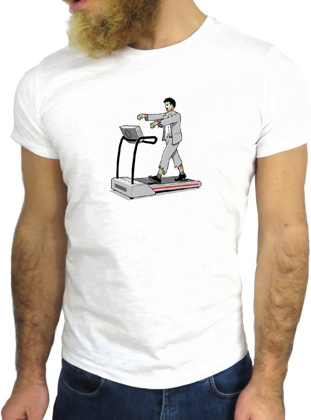 T-SHIRT JODE Z3672 TAPIS ROULANT GYM FRANKENSTEIN FUNNY COOL FASHION GGG24