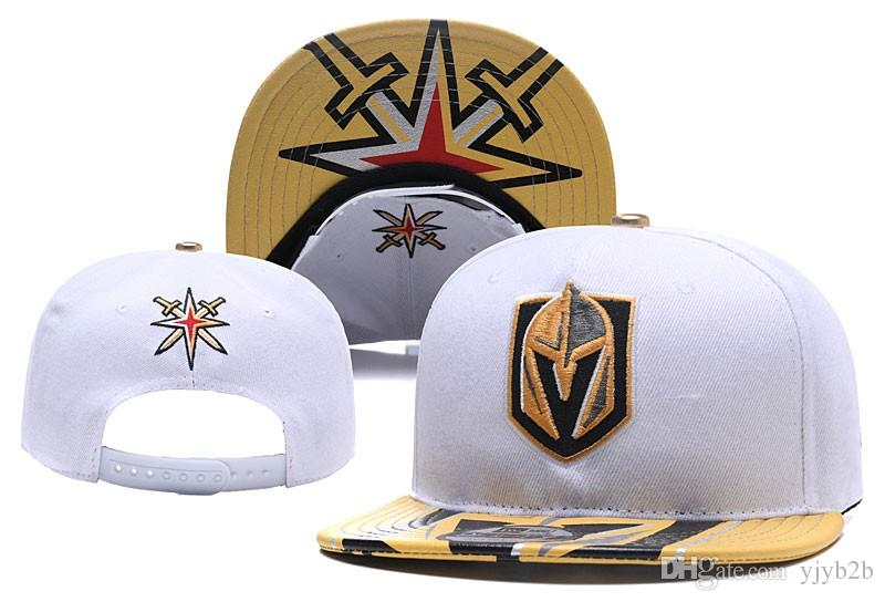 2018 Hot Men S Vegas Golden Knights Snapback Hats In White Color Ice Hockey Sport  Team Caps Letter Embroidered Logo Bones Vintage Chapeaus 47 Brand Hats ... 95e78aa081ad