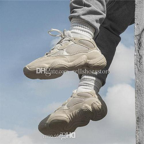 Hot new Desert Rat Kanye West Wave Runner 500 Blush Desert Rat Utility Black Men women Brand designer Shock absorbing sports Running shoes