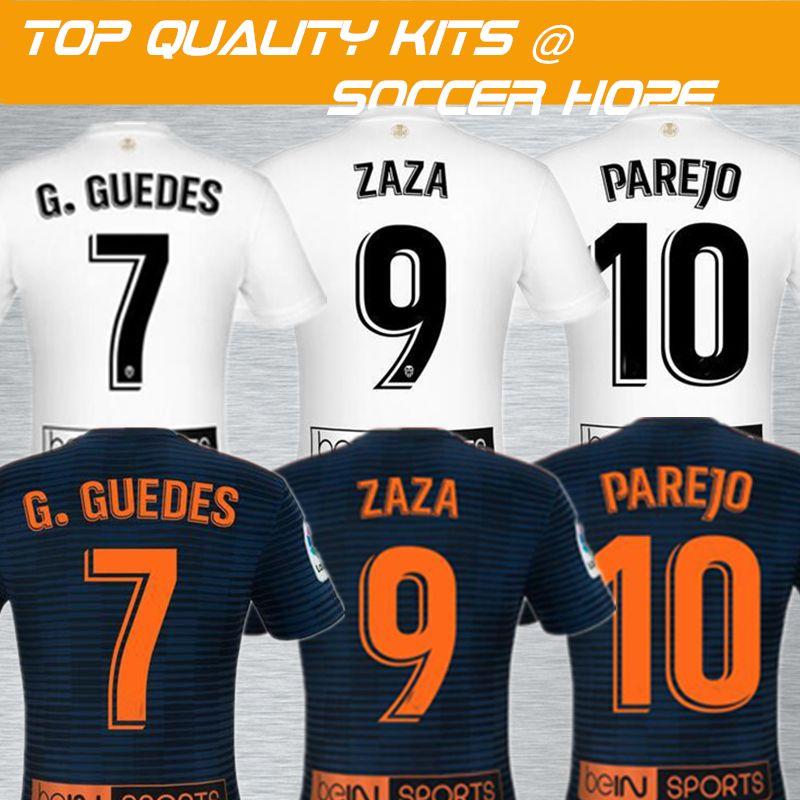 1248de048 2018-19 ZAZA Home Away Soccer Jersey Name Set Printed G.GUEDES PAREJO  Soccer Wear Kits Maillot Sport Shirts
