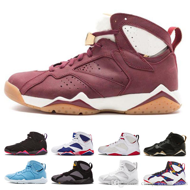 e23e1351f2aad3 2018 7 7s Men Basketball Shoes Men Raptor Guyz Hares Olympic Bordeaux GG  Cardinal Raptor French Blue Citrus Sports Shoe Sneakers Size 41 47 Buy Shoes  Online ...