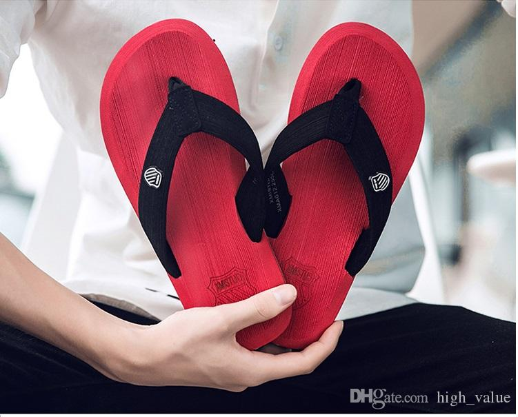 Real Special Offer Shower Room Beach Mens Shoes Slippers Wedge Platform Flip Flop Summer Sport Clip Toe Casual Sandals Silk Rubber Sole