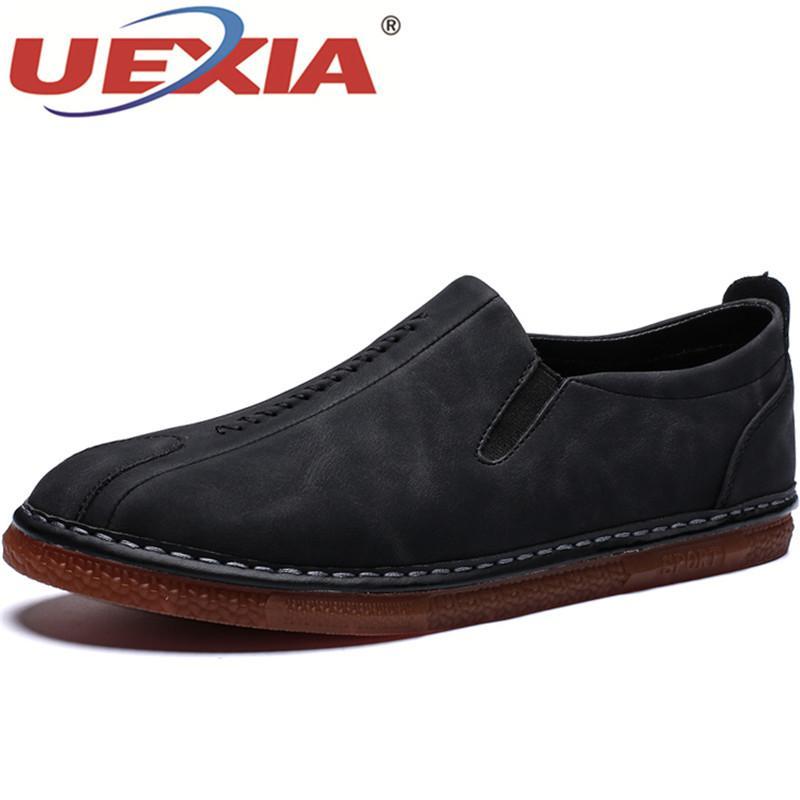 Casuales Uexia Compre Zapatos Moda De Hombre Negro Marrón qSnvB7twgn