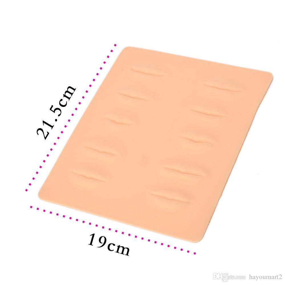 pratique 3d de tatouage des sourcils et des lèvres maquillage permanent tatouage de la peau fausse peau pour approvisionnement en aiguilles