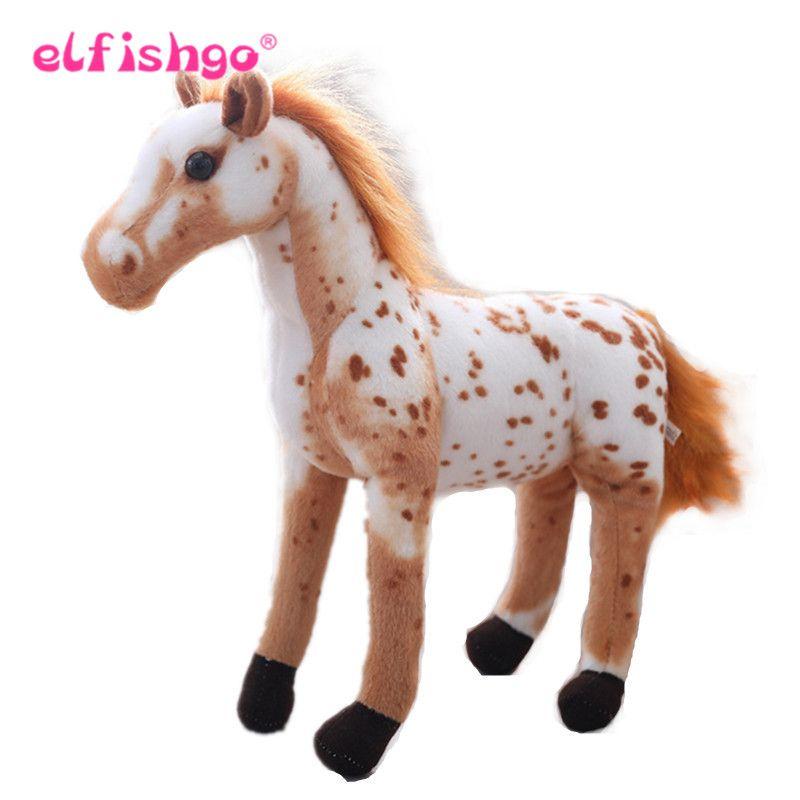 2019 Simulation Horse Plush Toys Stuffed Animal Zebra Doll Black