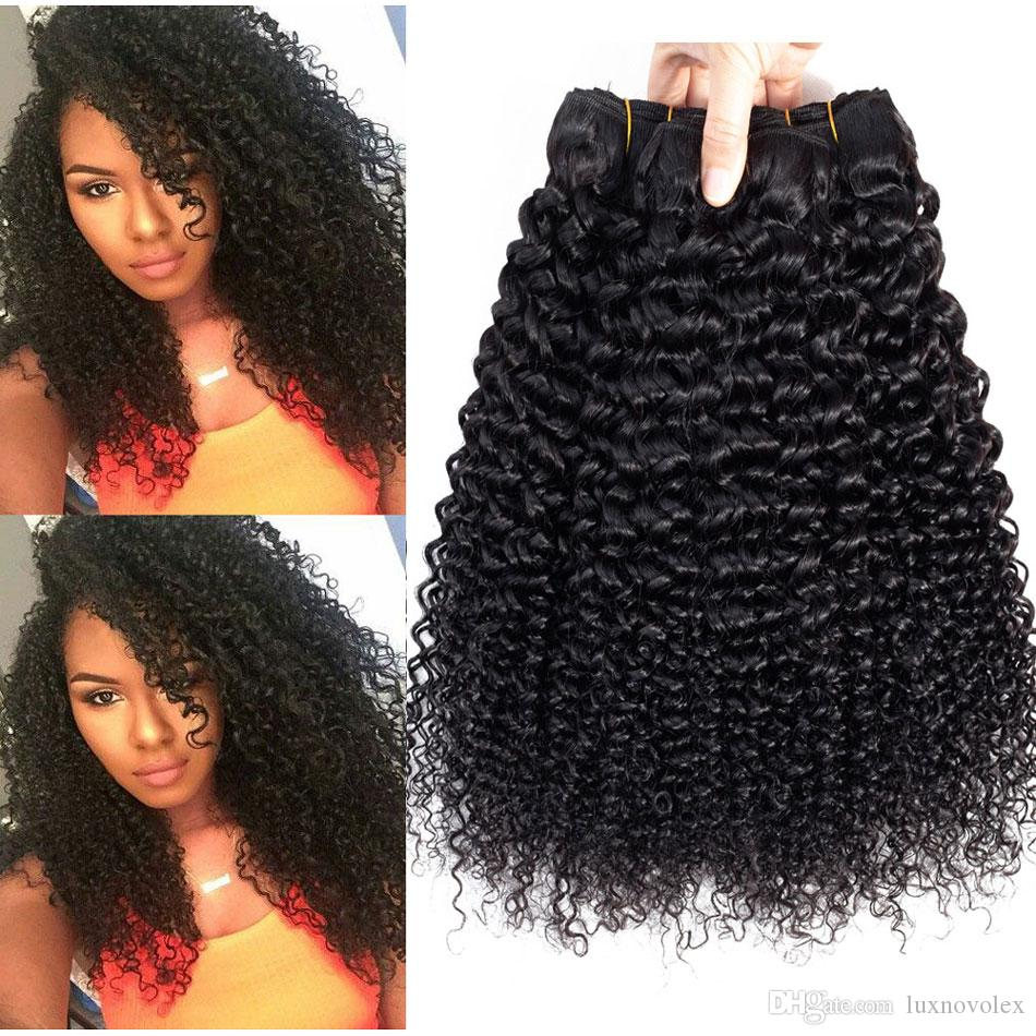 Brazilian Kinky Curly Human Hair Weave 3 Or 4 Bundles 10a