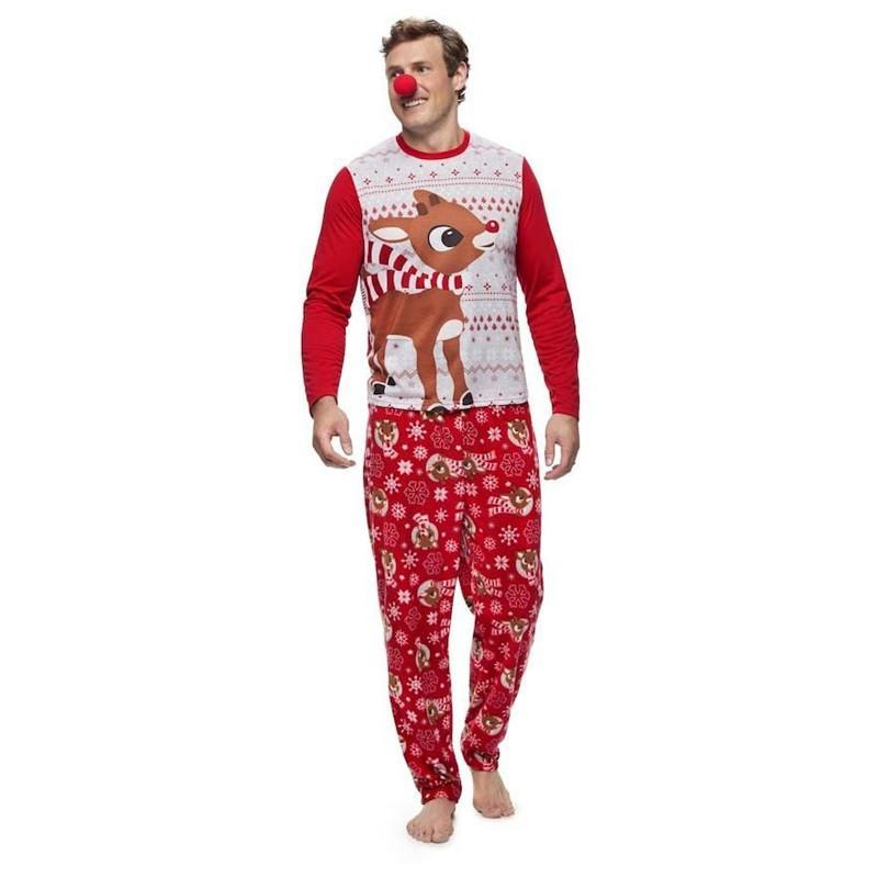 2018 Mais Novo Família Combinando Pijamas De Natal Set Mulheres Homens Baby Kids Sleepwear Nightwear Casual T-Shirt Calças
