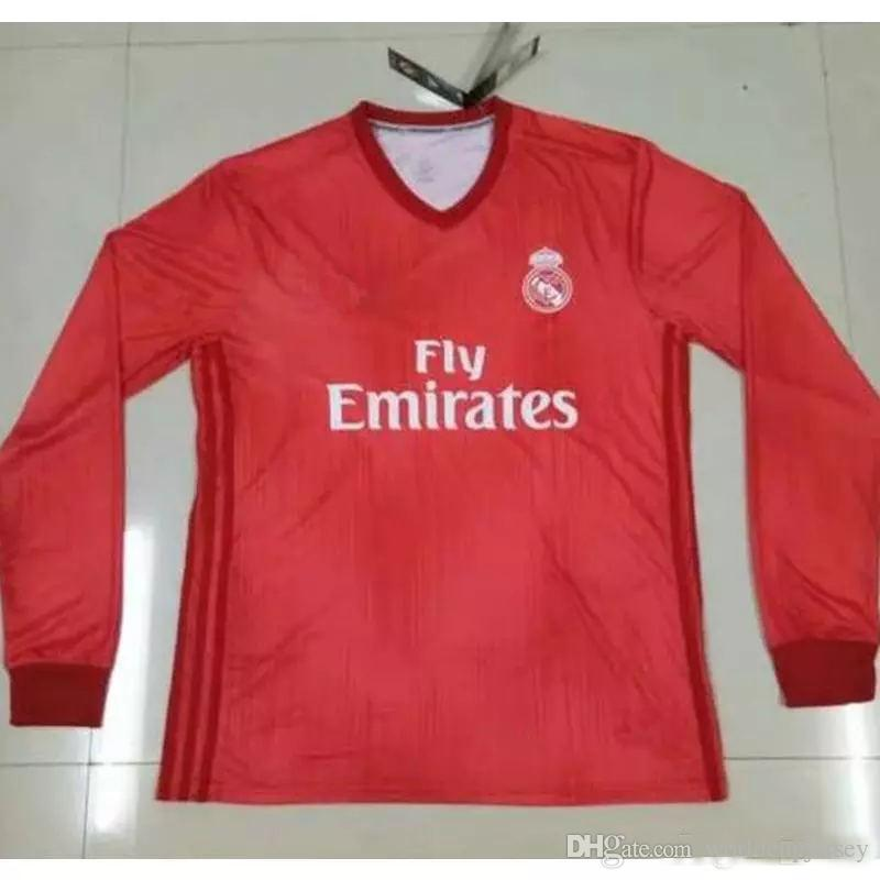 e6c72f2a0 2019 Long Sleeve 18 19 Real Madrid Soccer Jersey 2018 2019 Home AWAY Soccer  Shirt  8 KROOS  22 ISCO Modric Football Camisa De Futol From  Worldcupjersey